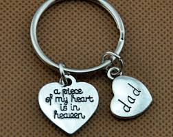 in memory of keychains in heaven etsy