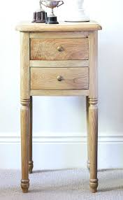 side table narrow side table w live edge stretcher by