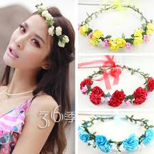 flower hair band womens floral headband wreath bohemia hair band anadem flower