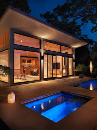 Pool House Flavin Architects Design A Poolside Guest House Overlooking The