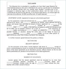 doc 407527 apartment lease agreements u2013 free residential lease