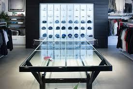 home ping pong table travismathew glass top ping pong table extravaganzi