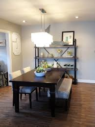 contemporary dining room grey oversized bolts on the legs and