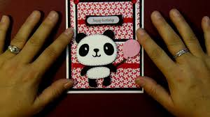 cricut panda happy birthday card using create a critter catridge