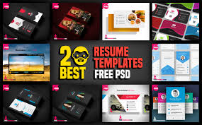 Best Resume Templates Psd by 20 Best Resume Templates Free Psd Psddaddy Com
