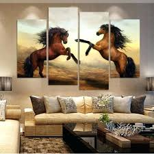 5 piece canvas wall art hand painted palette knife oil 4 piece canvas photography wildlife artwork white horse canvas art 4