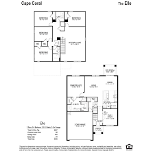 Car Floor Plan Elle Cape Coral Homes Cape Coral Florida D R Horton