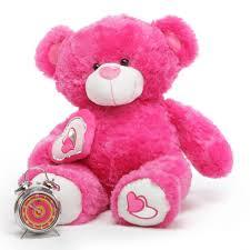 valentines bears chacha big 30 hot pink teddy teddy bears