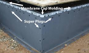 Basement Subfloor Systems - superseal dimpled membrane the best basement waterproofing method