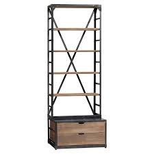 Metal Bookcases Wood Metal Bookcase Pbteen