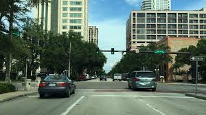 driving downtown st petersburg florida usa youtube
