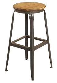 Black Backless Counter Stools Chrome Metal Bar Stool With Counter Height Without Backrest Using