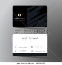 Flat Design Business Card Vector Modern Creative Clean Business Card Stock Vector 689843413