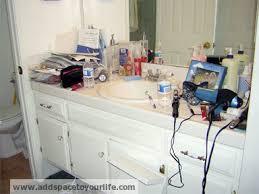 Messy Bathroom Bathroom Organizing San Diego Professional Organizer Image