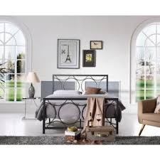 Silver Queen Bed Hodedah Black And Silver Queen Bed Frame Hi825 Q Black Silver