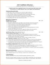 Resume Sample Objective Summary by Summary For Resume Customer Service Free Resume Example And