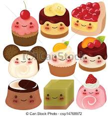 cute desserts collection of cute dessert vector file eps10 vectors
