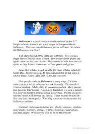 Halloween Quiz For Kids Printable by Halloween Running Dictation Story And Quiz Worksheet Free Esl