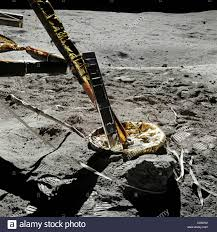 Picture Of Flag On Moon Apollo 16 Moon Landing Lunar Modual On Moon With American Flag