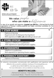 Resume Sample Untuk Kerja Kerajaan by Excellence In Healthcare Hospital Lam Wah Ee Centre Of