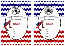 Samples Of Birthday Invitation Cards Spiderman Birthday Invitations Personalized Free Printable