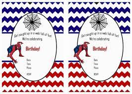 spiderman free printable birthday party invitations birthday