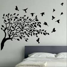 flying birds tree vinyl wall art shop zoom