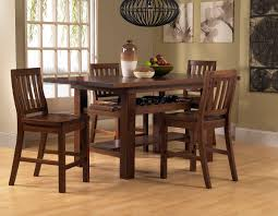 classy counter height dining sets with teak wood dining table