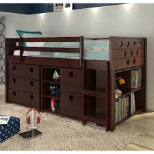 Donco Bunk Bed Donco Circles Low Study Loft Bed Hayneedle