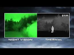 how do infrared heat ls work night vision versus thermal imaging youtube