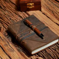leather bound scrapbook leather journal writing notebook rusteque
