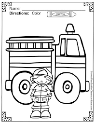 fire safety coloring pages learn language