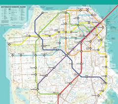 San Francisco Metro Map by My Sf Subway System U2014 Elliott Spelman