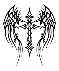 cross with wings by mercedesjk on deviantart