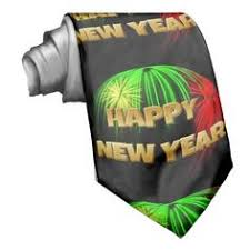 new years ties happy new year with chagne confetti neck tie confetti