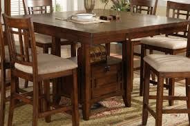 counter height dining table with storage counter height dining table set into the glass standard of
