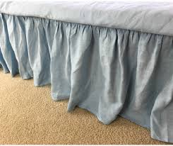 Ruffle Bedding Shabby Chic by New To Customlinenshandmade On Etsy Blue Bed Skirt In Natural
