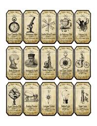 halloween bottle lables halloween steampunk apothecary label stickers set of 15