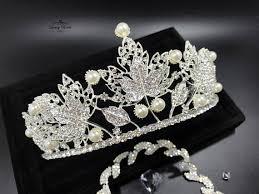 wedding tiaras wedding tiara with silver leaves luxury tiaras