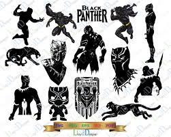 marvel black panther svg pack black panther marvel svg black