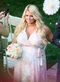 jessica simpson as a bridesmaid for her friends popsugar celebrity