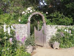 gate ideas landscape traditional with pink flowers pink flowers