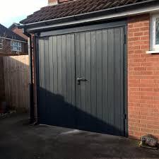 Elite Garage Door by Grp Side Hinged Garage Door In Anthracite Grey Elite Gd