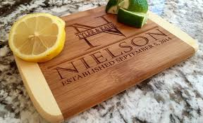 cutting board personalized personalized cutting board 6x8 edge bamboo board qualtry