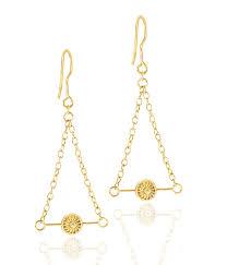 eco earrings aluna gold earrings fair sustainable jewelry