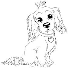 coloriage chien king charles a imprimer gratuit colorir