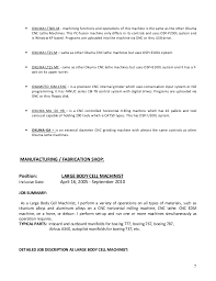 Cnc Machinist Resume Template Machine Operator Job Description Machine Operator Duties Machine