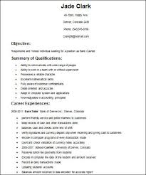 Resume Objective For Barista Basic Resume Examples