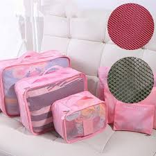 Waterproof Cushion Storage Bag by 6pcs Set Travel Luggage Organizer Pouch Bag Clothes Secret Storage