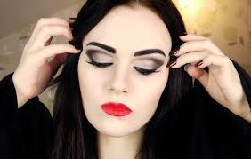 morticia addams makeup tutorial beauty diy makeup pinterest